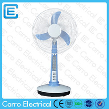 factory direct sell 16inch 1350rpm 12v high speed mini usb table fan with lights CE-12V16A2