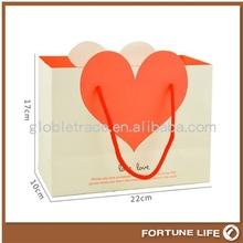Unique design wedding decorative paper bag with a big heart