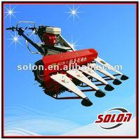 120 High Performance mini rice combine harvester/mini rice reaper/paddy harvester