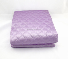 Purple plain dyed anti-pilling satin throw for bedding set