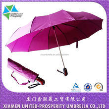 3-fold scattered dots automatic 10 strong fiberglass ribs umbrella with carrier bag