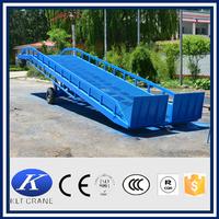 forklift heavy duty hydraulic mobile loading ramp