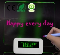 Desk Clock Digital Led Timer Temperature Calendar With Message Board Freely Writing Leaving Message Led Message Displaying Board