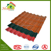 Exclusive design fire resistance synthetic resin decoration roof tile for villa