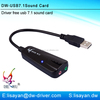 Guangdong supplier external 7.1 channel 3d sound card