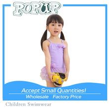2015 Latest Flower Printing Princess Triangl One Piece Swimwear For Little Girls