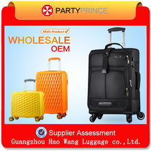 2015 New durable trolley super soft large space spinner luggage case