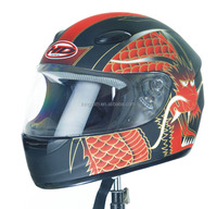 Red Dragon Motorcycle Scooter Full Face Biker Helmet