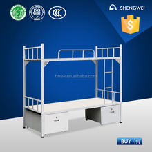 double bunk bed metal bunk bed with drawers for school
