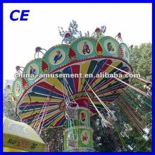 park amusement rides thrilling activity luxurious flying chairs