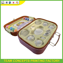High end paper suitcase with toy keeping
