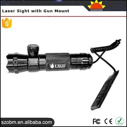 Secure and Handy 5mW Green Aluminum Alloy Tactical Laser Sight with Gun Mount