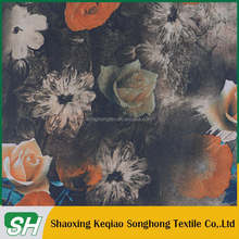 Hot selling Low price keqiao 100 polyester 210T printed taffeta fabric