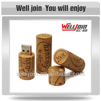Advertising Wooden USB Flash Drive, Cork USB Flash Drive, Wine Cork Shape USB Flash Drive