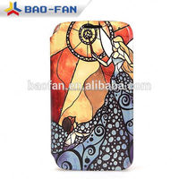 New 3d Full Size Printing Blank Sublimation Phone Case Leather white fabric with Plastic for Samsung S5