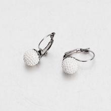 Stainless Steel Earrings Female Jewelry Women's Steel Color Pearls Hoop Earrings Models For Gifts