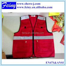so many pockets hi vis dog walkers/motorcycle colored safety vest
