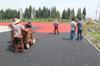 ptj-120 sprayer machine for spray coating system running track installation