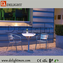 Outdoor color change led illuminated table/ led dining table/ led modern mini bar counter furniture