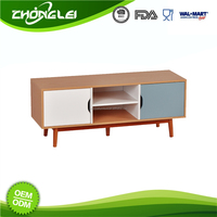 Super Quality 2015 Latest Design FSC Certificated Wooden Tv Stand Pictures