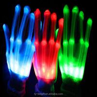 Multi-functional colorful led gloves led finger light gloves