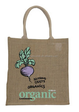 2015 best sell organic jute cotton tote bags China wholesale