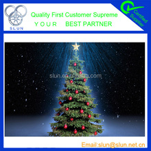 2014 the fashion snowing christmas tree in factory price.