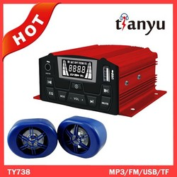 waterproof mp3 usb player motorcycle mp3 audio alarm system
