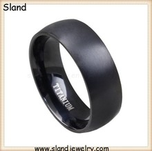 wholesale Cheap Black Jewelry comfortable edge mens titanium ring, blank titanium ring with engraving, Paypal accepted