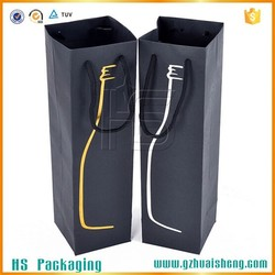 Wholesale cheap Fashion wine bag / full color printing paper wine bag