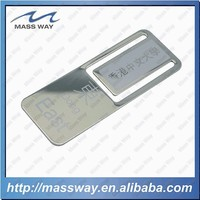 latest laser engraved silver brass custom metal bookmark