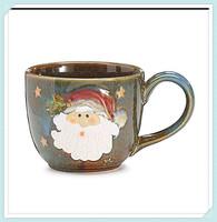 Factory large santa clause 30 oz christmas ceramic soup mug