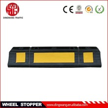 Rubber Base Black and Yellow Wheel Stopper