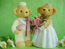 Creative Teddy bear couples resin saving money boxes wedding gifts