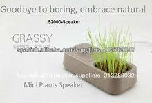 vivir Altavoces hierba verde para los regalos promocionales