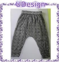 Printed 65% polyester 35% rayon haren pants cheap elastic haren pants factory price haren pants