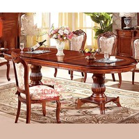 2015 Europe type stretch dinning table was made by import oak solid wood used for dinning room