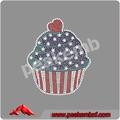 Patriótico Crystal grandes transferencias Fix Flag Cupcake Bling Hot hierro el 4 de julio
