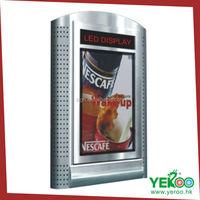Foshan Yeroo Outdoor aluminum customized standing square scrolling light box