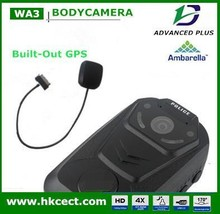 GPS camera 2 inch TFT-LCD HD 1080P portable police video body worn camera with USB 2.0 charging, police pocket video camera
