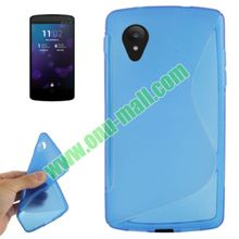 Pure Color for Google Nexus 5 S Shaped Frosted TPU Case