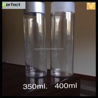 350ML Round Beverage Plastic Juice Beverage Bottle For Cold Coffe