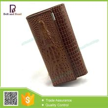 Cheap price custom good quality importer of leather woman wallets