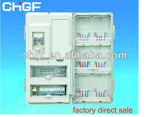 GF outdoor single phase six position fiberglass/plastic electric energy watt meter box