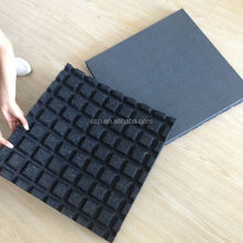 40mm 50mm T-groove recycled rubber playground fixed mats