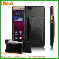 iBest 2015 For Huawei Ascend P8 Lite cell phone pu leather flip cover case with stand,flip case for huawei p8 lite