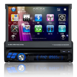 1 din 7 inch car dvd player with CE and ROHS certificates