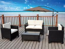 New 4pcs garden rattan wicker outdoor conservatory furniture