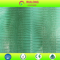 Promotion pvc leather crocodile skin embossed faux leather