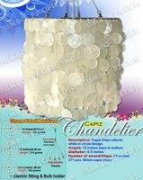 Capiz Chandelier in Capiz chips circle design